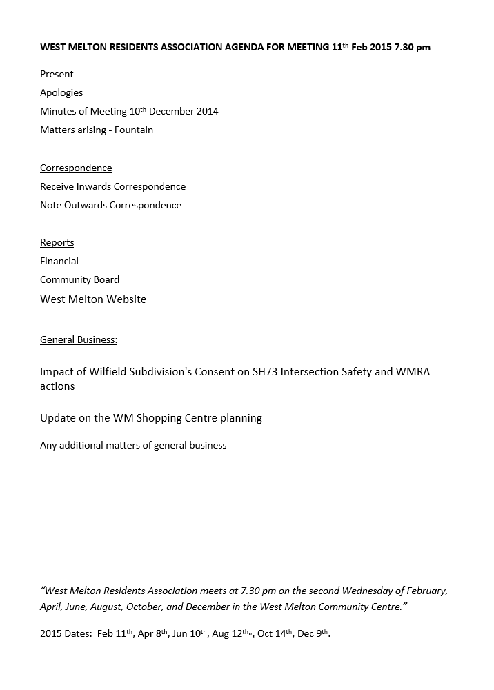 11 Feb Meeting