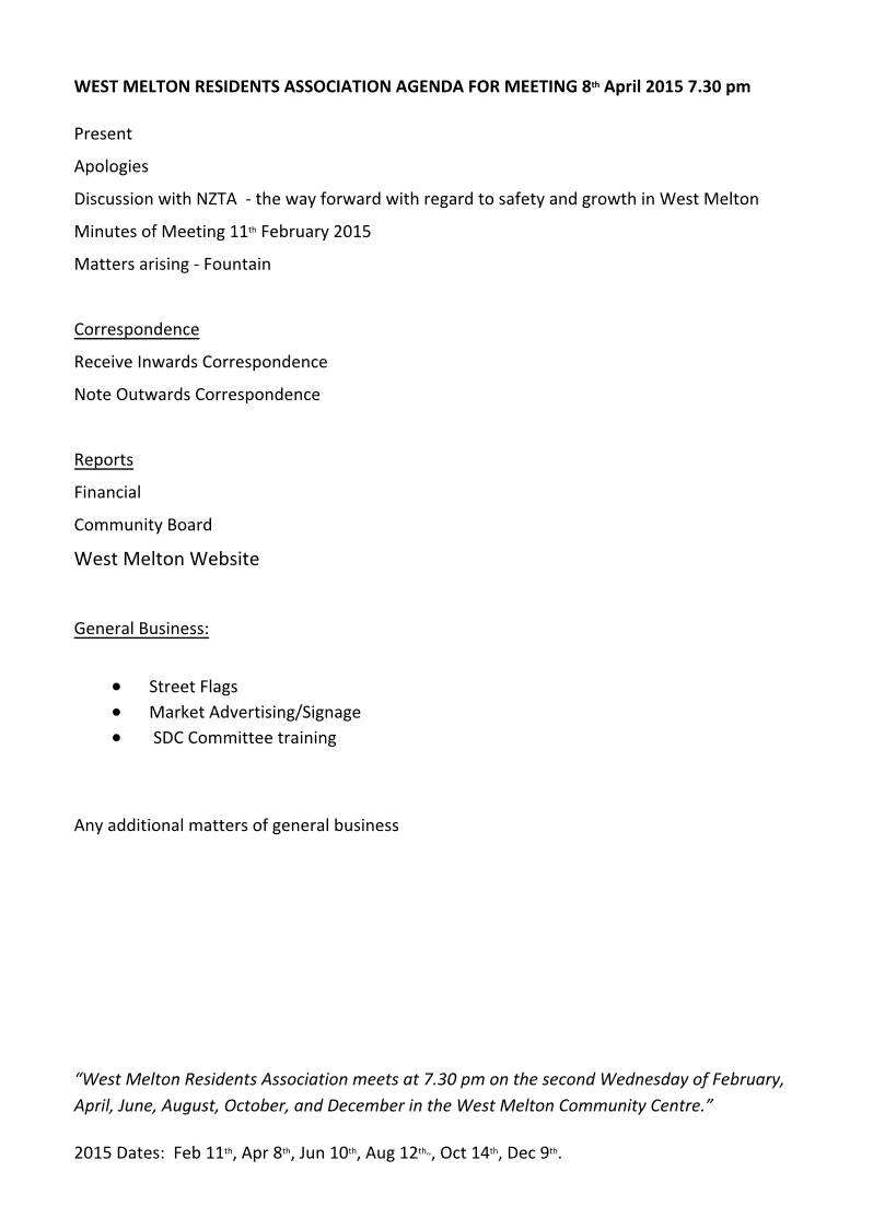8_April_Agenda