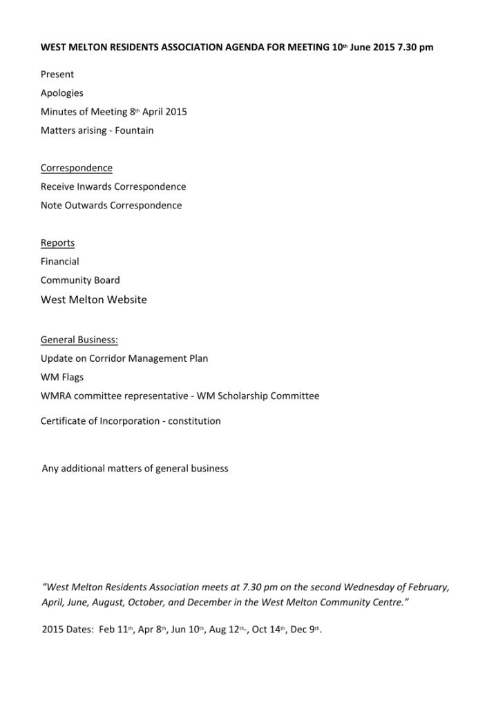 2015-6-10-Agenda